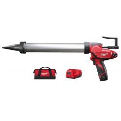 Pistolet  M12 600 ml - PCG/600A-201B tuba aluminiowa