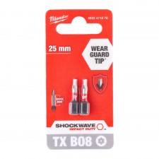 Bit TX BO 8-25 mm blister 2szt