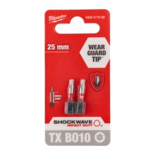 Bit TX BO 10 -25 mm blister 2szt